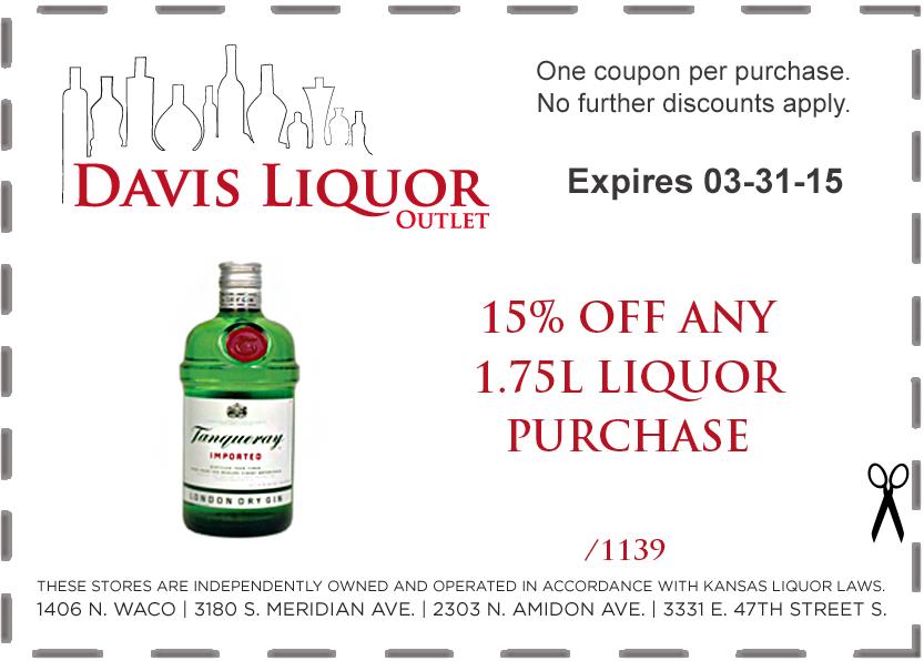 January, February, March Coupons - Davis Liquor
